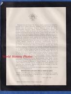 Document De 1883 - PATRAN Par LOUHANS - Mademoiselle Marie Joseph Amélie LOUISE De GARNIER Des GARETS - Décès