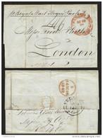J) 1842 MEXICO, SENT BY ROYAL MAIL STEAM PACKET TO LONDON MEXICO YBM19 (3) 8 29 18542 VERACRUZ BP11 (3) ENGLISH BACKSTAM - Mexico