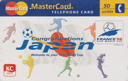 TC JAPON / 110-016 - SPORT - FOOTBALL FRANCE FIFA WORLD CUP 98 - SOCCER JAPAN Phonecard ** Visa Master Card ** - Sport