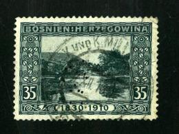 BOSNIA-AUSTRIA,    VF Used   1910 PERFINS   !!!!!!  RARE !!!!!!!!! - Bosnia And Herzegovina