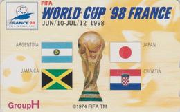 TC OFFICIELLE JAPON / 110-011 - SPORT - FOOTBALL FRANCE FIFA WORLD CUP 98 - SOCCER JAPAN Phonecard * Master Card * 1198 - Sport