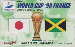 TC OFFICIELLE JAPON / 110-011 - SPORT - FOOTBALL FRANCE FIFA WORLD CUP 98 - SOCCER JAPAN Phonecard * Master Card * 1199 - Sport