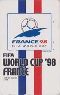 TC OFFICIELLE JAPON / 110-011 - SPORT - FOOTBALL FRANCE FIFA WORLD CUP 98 - SOCCER JAPAN Phonecard * Master Card * 1200 - Sport
