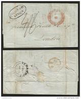 J) 1849 MEXICO, MARITIME MAIL, 4/6 MANUSCRIPT, FRANCO EN MEXICO RED CIRCULAR CANC.,  WILDE & CO MEXICO OVAL SEAL, NJ 200 - Mexico