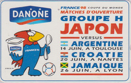 TC OFFICIELLE JAPON / 110-011 - SPORT  FOOTBALL FRANCE WORLD CUP 98 - Yaourt DANONE SOCCER JAPAN Pc * Master Card  1201 - Sport