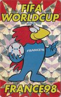 TC OFFICIELLE ARGENT JAPON / 110-011 - SPORT  FOOTBALL FRANCE WORLD CUP 98 - SOCCER JAPAN SILVER Pc * Master Card 1202 - Sport