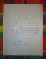 FAIRE-PART MARIAGE 1860 MIQUE # BROUSSAIS CROSNIER Député Vendôme Loir-et-Cher * - Mariage