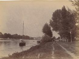 Snapshot Argenteuil 1899 Quai Bateaux Rives Péniches Paris - Photographs
