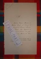 FAIRE-PART MARIAGE 1867 ROUSSE # LACORDAIRE DELZONS Orléans Loiret Vendôme Loir-et-Cher * - Mariage