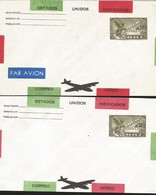 J) 1935 MEXICO, SYMBOLICAL OF FLIGHT, AIRMAIL, POSTAL STATIONARY, SET OF 2 - Mexico