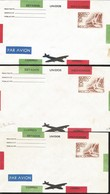 J) 1935 MEXICO, SYMBOL OF FLIGHT, AIRMAIL, POSTAL STATIONARY, SET OF 3 - Mexico