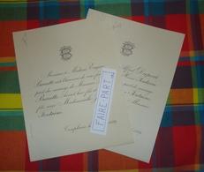 FAIRE-PART MARIAGE 1889 BARATTE # FONTAINE DUPONT Templeuve Fondjouan * - Mariage