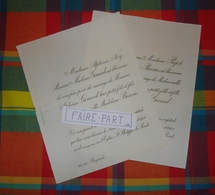 FAIRE-PART MARIAGE 1889 GERARD # BOIVIN FOY PAJOT Paris * - Mariage