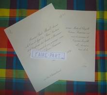 FAIRE-PART MARIAGE 1889 MOREL # LEMOINE Paris Orléans Loiret * - Mariage