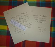 FAIRE-PART MARIAGE 1890 THIEBAULT # BUFFEREAU Issoire Auvergne Vendôme Contres * - Mariage