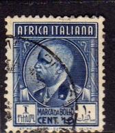 AFRICA ITALIANA MARCA DA BOLLO REVENUE CENT. 10c USATO USED OBLITERE' - Eastern Africa