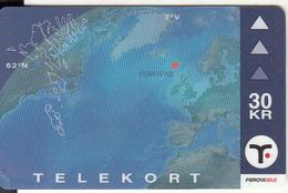 FAROE ISL. - Faroese Map(33), Tirage 15000, 12/00, Used - Faroe Islands