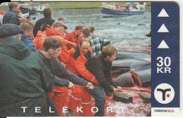 FAROE ISL. - Pilot Whales(32), Tirage 15000, 10/00, Used - Faroe Islands
