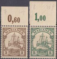 ISOLE MARIANNE, COLONIA TEDESCA - 1900 -Lotto Di 2 Valori Nuovi MNH: Yvert 7 E 8. - Colonie: Mariannes