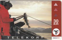 FAROE ISL. - Long Line Fishing(25), Tirage 15000, 06/00, Used - Faroe Islands