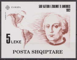 """Europa Cept, Albanien 1992, Block 97  """"Columbus"""", MNH/postfrisch. - Europa-CEPT"""