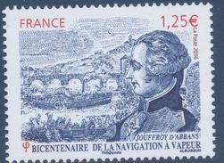 N° 5044 Bicentenaire De La Navigation à Vapeur Faciale 1,25 € - France