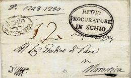 1813- VENETO - Letter From SCHIO/D° Bacchiglione- Voll. N° 1 -rating 12 - 1. ...-1850 Prefilatelia