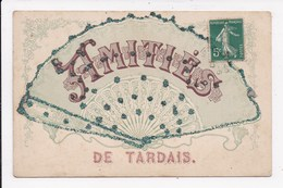CP 28 TARDAIS Amities  Eventail - France
