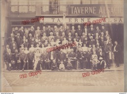 Au Plus Rapide Saint Etienne Loire Taverne Alsacienne Société Amicale La Bourbonnaise Souvenir Fête 28 Mai 1905 - Personnes Identifiées