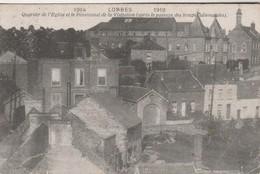 Lobbes ,Quartier De L'église Et Le Pensionnat De La Visitation ( Après Le Passage Des Troupes Allemandes 1914 - 1918 - Lobbes