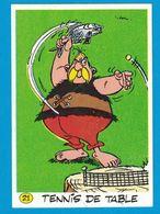 AUTOCOLLANT LA VACHE QUI RIT TENNIS DE TABLE ASTERIX ET SES AMIS PREPARANT LES JEUX OLYMPIQUES 1991 GOSCINNY UDERZO - Stickers