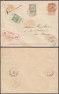 BELGIQUE EP 10c + COB 56+59 SUR REC DE VIERVES 08/09/1900 VERS SURICE (DD) DC-6938 - 1893-1900 Thin Beard