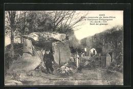 CPA Bretagne, Allee Couverte De Bois-Peou A Trevoux-Treguignec, Sert De Grange - Non Classés