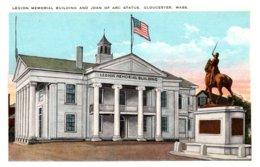 Massachusetts Gloucester , Legion Memorial Building , Joan Of Arc Statue - Other