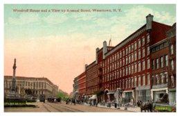 New York Watertown Woodruff House And View Up Arsenal Street - NY - New York