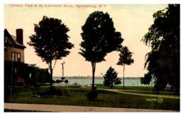 New York   Ogdensburg Library Park & St.Lawrence River - NY - New York