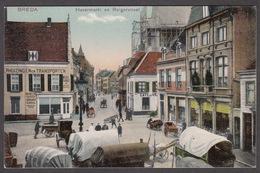 CPA -  Pays Bas, BREDA, Havermarkt En Reigerstraat - Breda