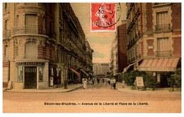 92 BECON LES BRUYERES - Avenue Et Place De La Liberté - Autres Communes