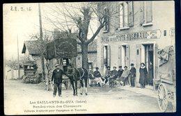 Cpa Du 38 Les Saillants Du Gua -- Rendez Vous Des Chasseurs -- Hôtel De La Poste - Allemand Voitures à Volonté DEC19-47 - Altri Comuni