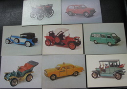 USSR Soviet Russia Visiting Cards Business Cards Cars Motor Automobile Auto Vintage Unused New - Visiting Cards