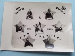 Cor KNUVERS - Bob Van WAASDIJK & And Their JAM SESSION ( Form. +/-18 X 13 Cm ) Muziek / Orkest ! - Beroemde Personen
