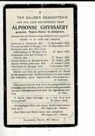 Dp 10340 - ALPHONSE GHYSSAERT - PASTOR DEKEN TE AVELGHEM - DIXMUIDE 1848 + BRUGGE 1927 - Images Religieuses