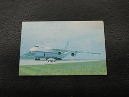 USSR Soviet Russia Pocket Calendar Airplane Plane AN 124 Ruslan September 1991 - Calendars