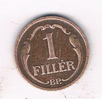 1 FILLER 1935 HONGARIJE /1318/ - Hongrie