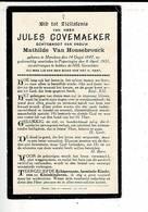 Dp 10342 - JULES COVEMAEKER - VAN HONSEBROUCK - MERCKEM 1847 + POPERINGHE 1931 - Images Religieuses