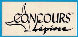 AUTOCOLLANT CONCOURS LEPINE - Pegatinas