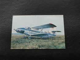USSR Soviet Russia Pocket Calendar Airplane Plane AN 3  October 1991 - Calendars