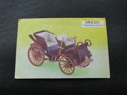 USSR Soviet Russia Pocket Calendar Car Motor Automobile Auto Tatra President 1897 - 1992 - Calendars