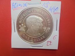 """BERMUDES """"ROYAL WEDDING"""" 1$ 1981 ARGENT (A.5) - Bermudes"""