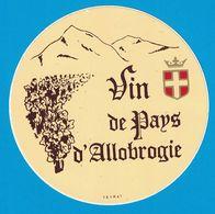 AUTOCOLLANT VIN DE PAYS D'ALLOBROGIE ( SAVOIE )  ( VEYRAT ) - Pegatinas
